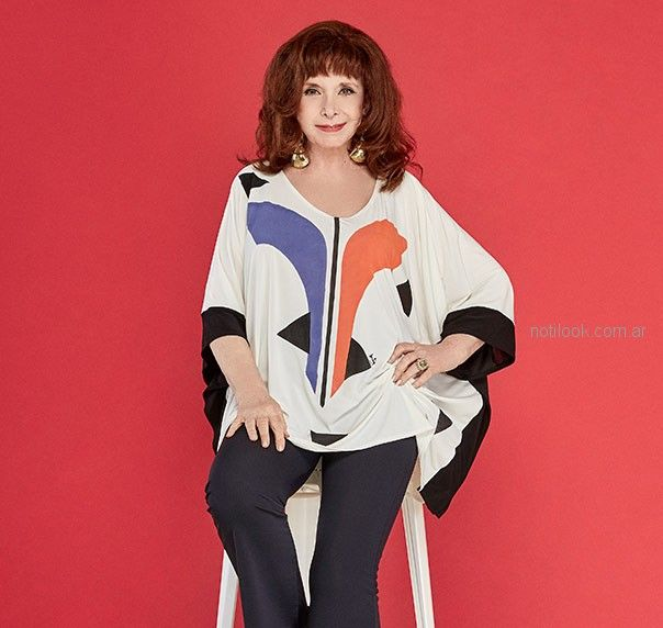 camisola estampada verano 2019 - Loren talles grandes