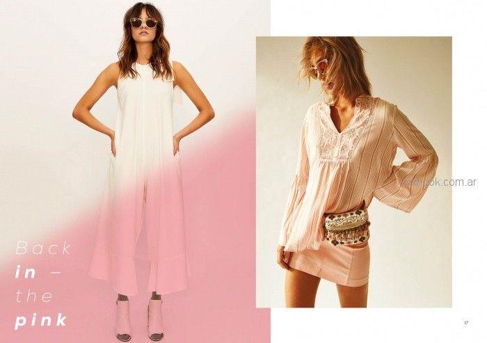 camisola rosa con falda de jeans verano 2019 - Inedita Argentina
