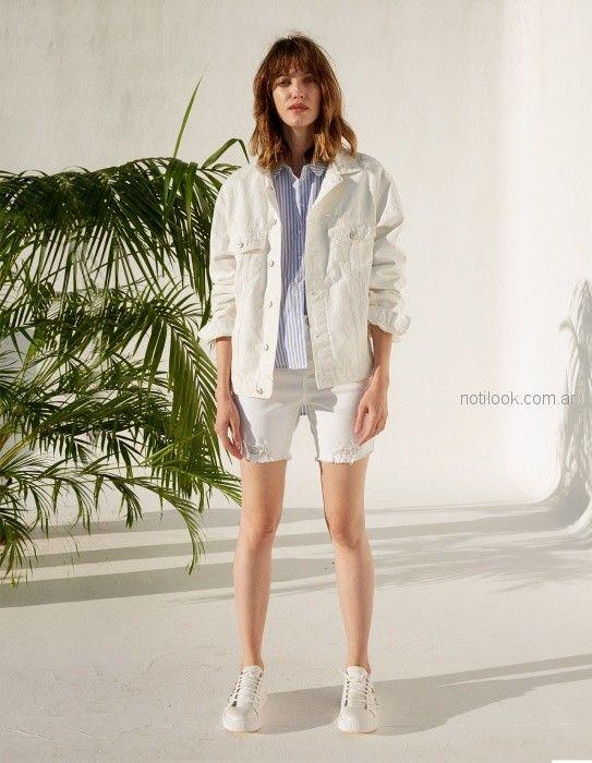 campera y short de jeans blanco verano 2019 - Koxis - ropa juvenil