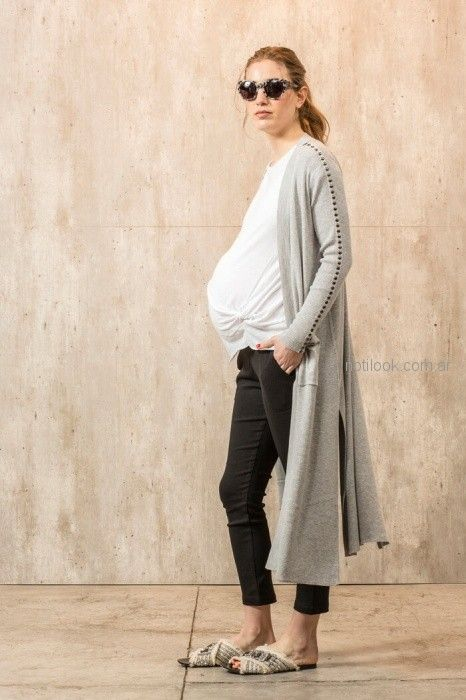 cardigan largo de hilo para embarazadas Maa Maternity primavera verano 2019