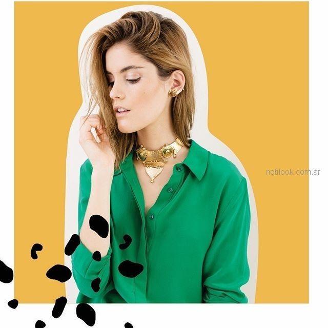 collar corto dorado Mechi garay verano 2019