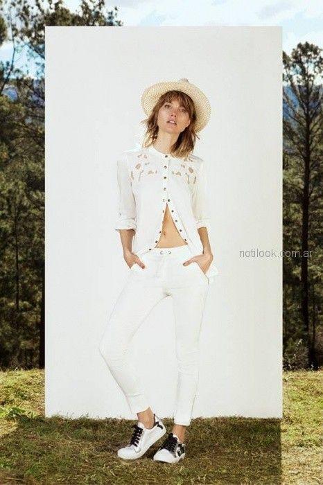jeans blanco verano 2019 - Vesna