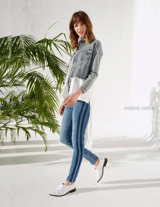 jeans chupin y camisa denim mujer verano 2019 - Koxis - ropa juvenil