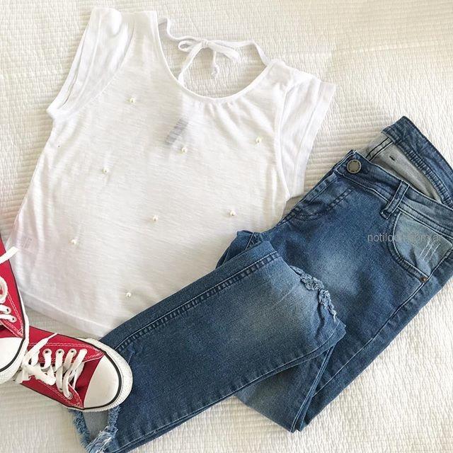 jeans y blusa adolescente verano 2019 - Te Lo Juro