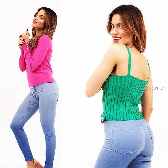 jeans y remeras tejidas verano 2019 - Alma Jeans