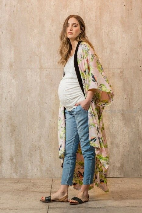 kimono estampado para embarazadas Maa Maternity primavera verano 2019