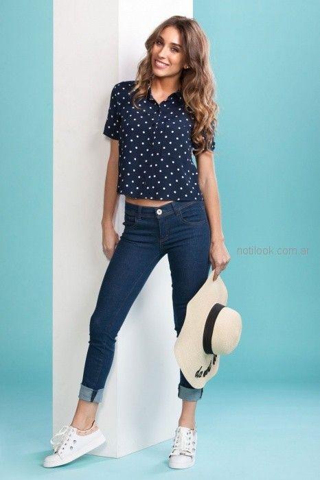 look casual con camisa mujer Nmd Normandie verano 2019