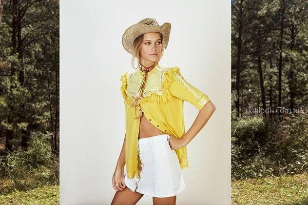 minifalda de jeans blanca verano 2019 - Vesna
