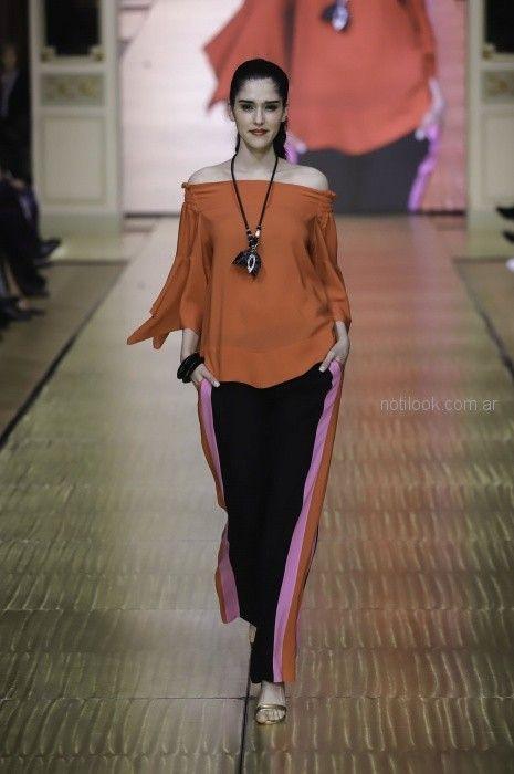 palazzos y camisolas para señoras Adriana Costantini primavera verano 2019