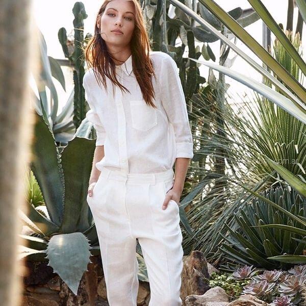 pantalon blanco de vestir para mujer Etiqueta Negra mujer verano 2019