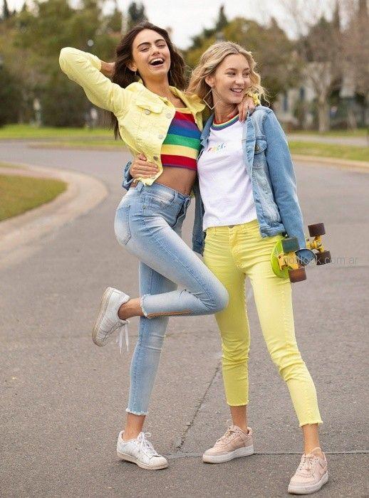 pantalon chupin amarillo Diosa luna jeans verano 2019