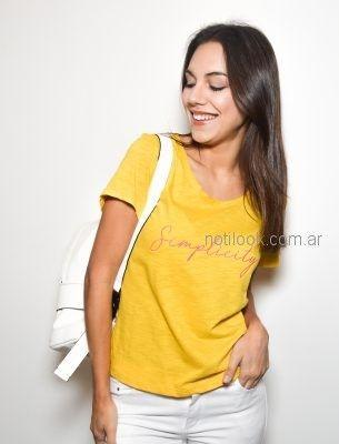 remera amarilla basica Zulas verano 2019