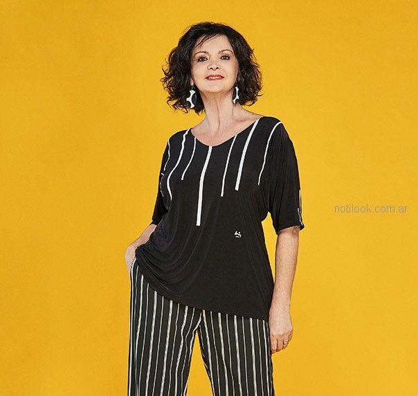 remera negra verano 2019 - Loren talles grandes