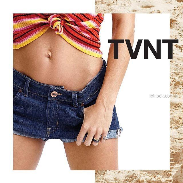 short de jeans mujer Taverniti verano 2019