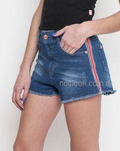 short jeans con franja lateral para adolescentes Combustion Love verano 2019