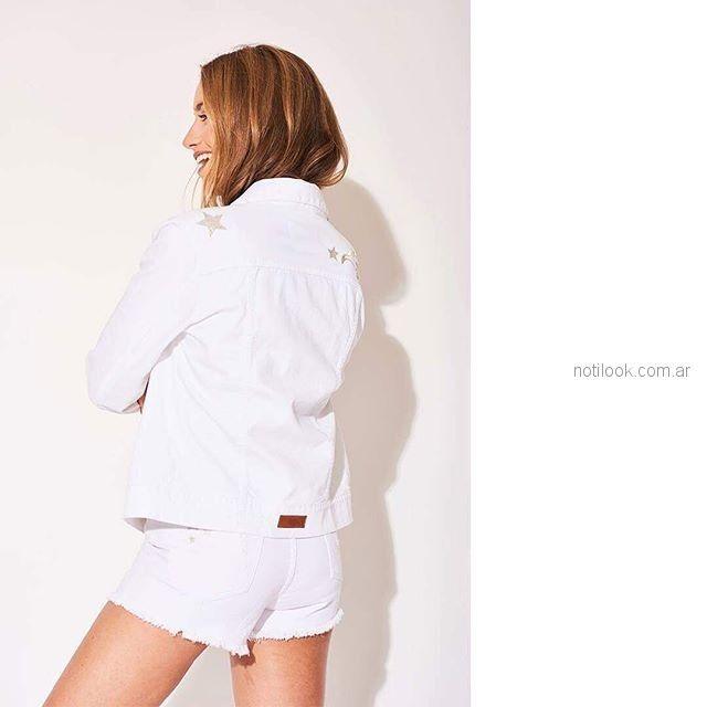 short y campera jeans blanca Zhoue verano 2019