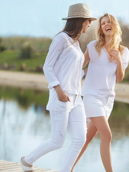 short y pantalon largo blanco mujer Sail verano 2019