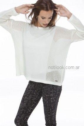 sweater de hilo blanco Nuss Tejidos primavera verano 2019