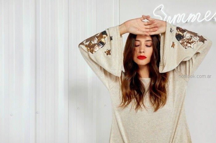 sweater mujer mangas acampanadas con estrellas Millie primavera verano 2019