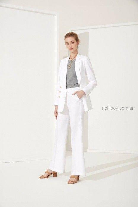traje para mujer blanco Carmela Achaval primavera verano 2019