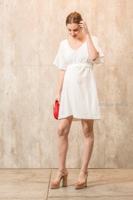 vestido blanco corto para embarazadas Maa Maternity primavera verano 2019