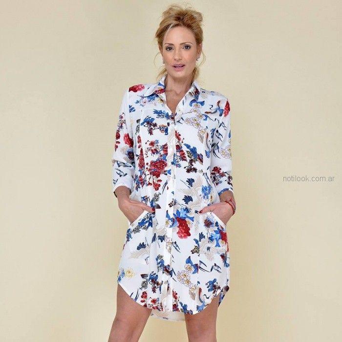 vestido camisero corto para señoras Moravia Jeans verano 2019