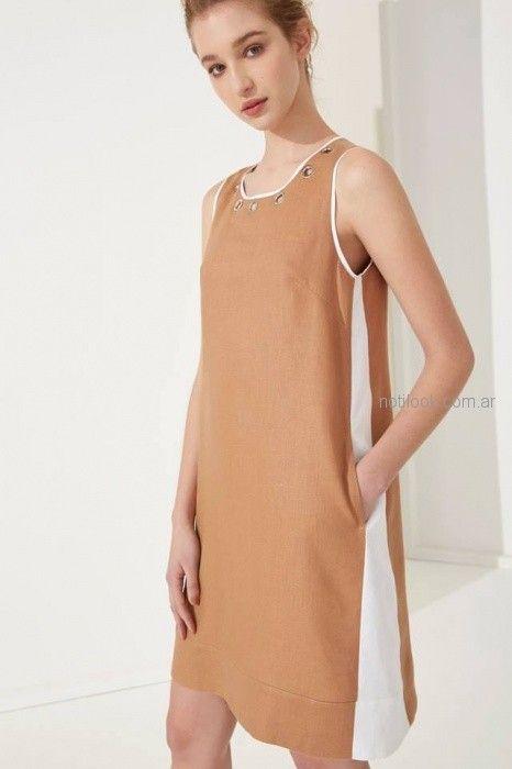 vestido de lino de corte sastrero Carmela Achaval primavera verano 2019