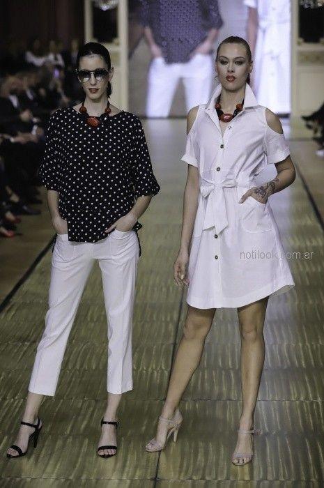 vestido denim camisero para señoras Adriana Costantini primavera verano 2019