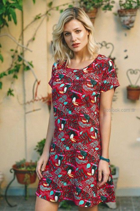 vestido informal estampado para señoras Orix primavera verano 2019