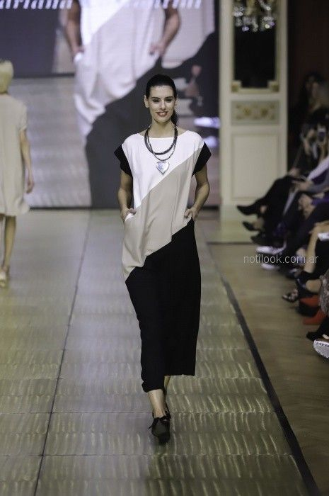 vestido largo urbano para señoras Adriana Costantini primavera verano 2019