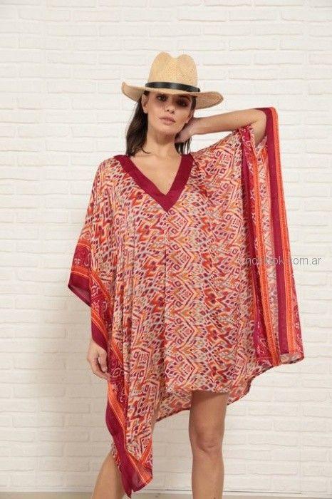 vestido playero estilo poncho Doll Store verano 2019