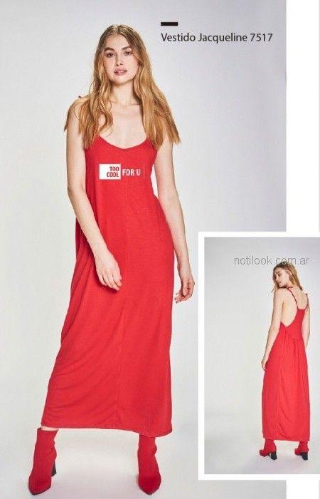vestido rojo informal verano 2019 - Prussia