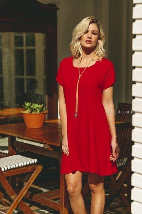 e0c1ec771a vestido rojo mangas cortas casual mujer Orix primavera verano 2019 ...