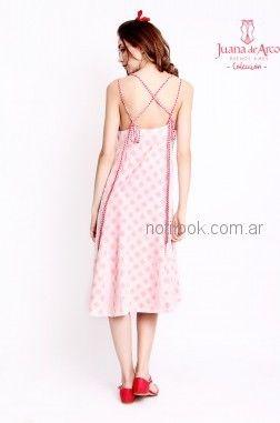 vestido rosa juvenil estampado vestido recto juvenil con estampa original al frente Juana de arco verano 2019