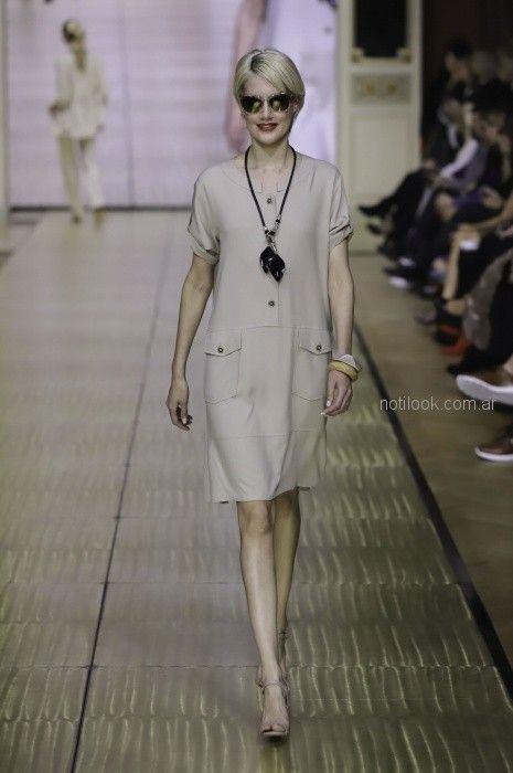 vestido urbano para señoras Adriana Costantini primavera verano 2019