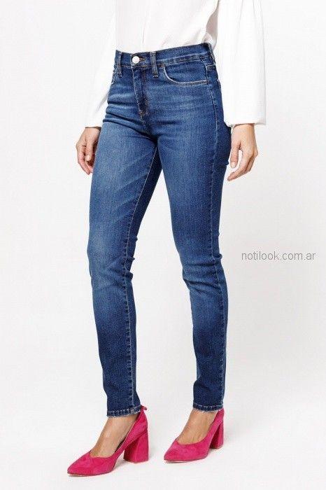 O Jeans tiro medio chupin Las oreiro verano 2019