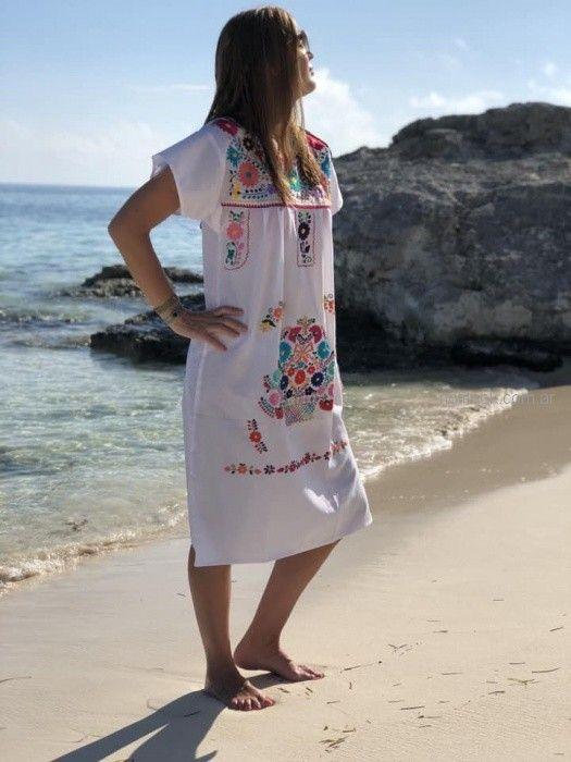 Vestilo tunica bordada playa enriquiana tejidos