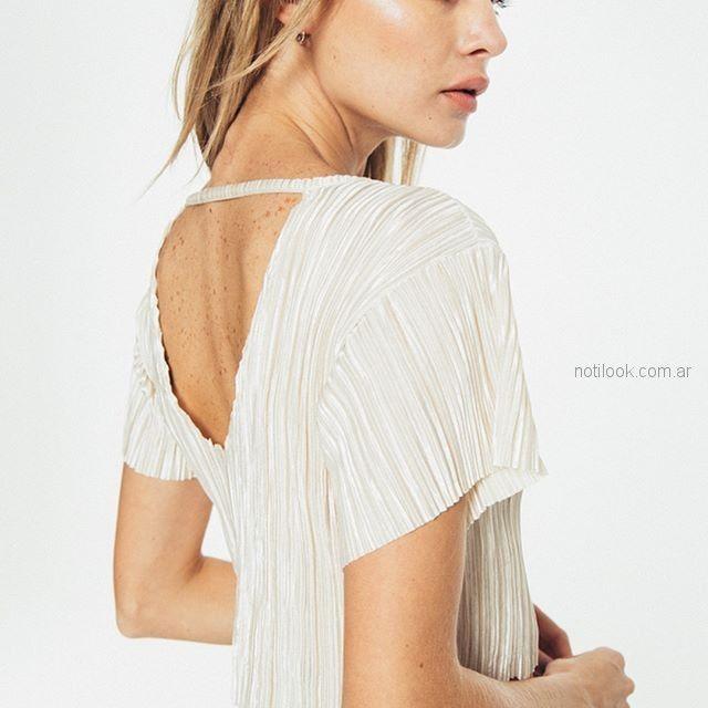 blusa blanca plisada tierra 316