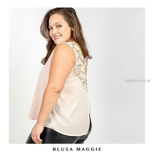 blusa talles grandes con encaje en espalda Syes verano 2019