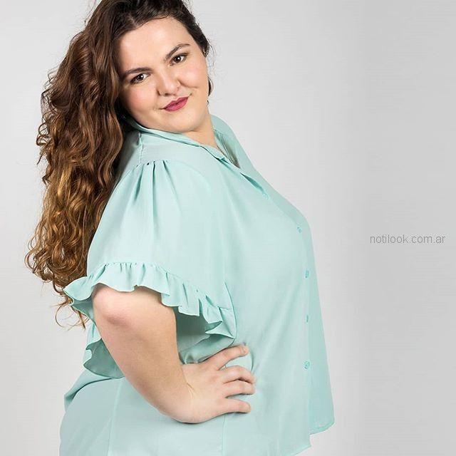 blusas casual talles grandes Syes verano 2019