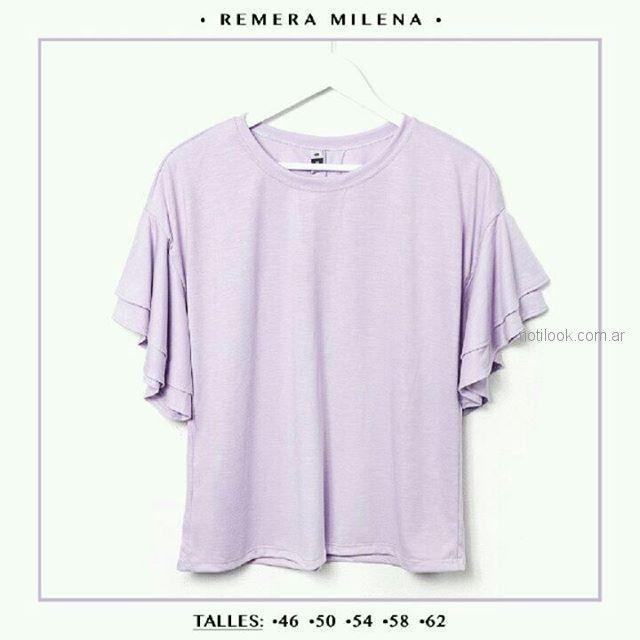 blusas holgadas mujer talles reales Syes verano 2019