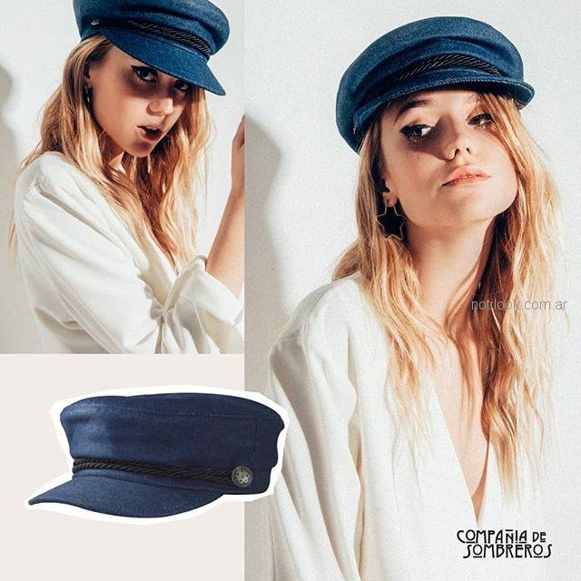 boina azul Compañia de sombreros verano 2019