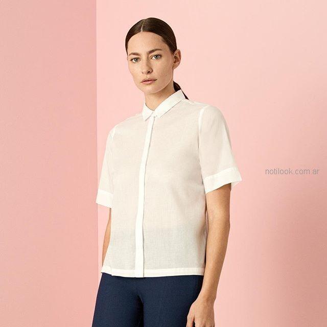 camisa mangas cortas blancas cacharel argentina verano 2019