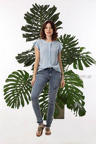 camisa musculosa casual mujer okoche primavera verano 2019