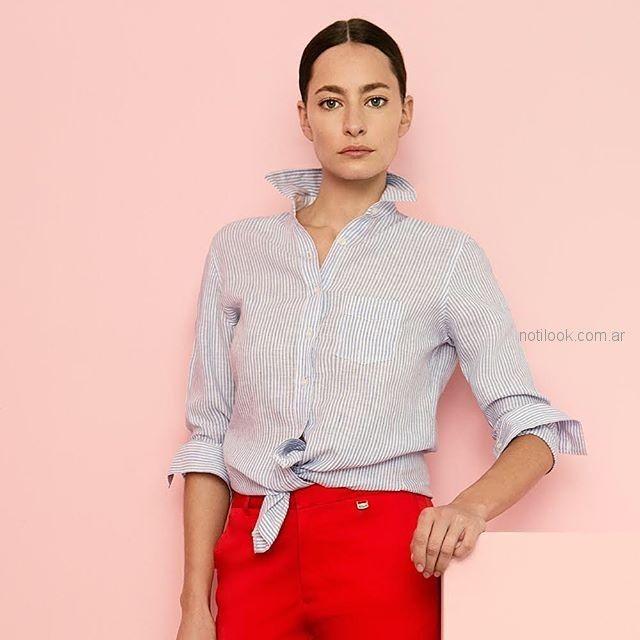 camisas para mujer cacharel argentina verano 2019