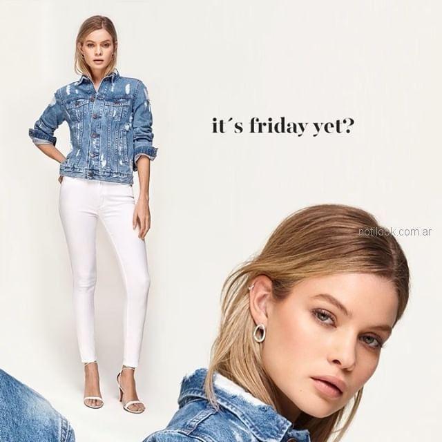 chupin blanco Adicata jeans verano 2019
