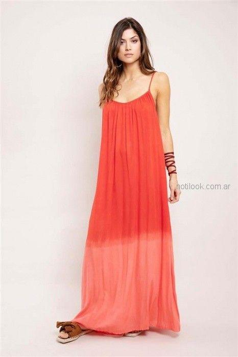 maxi vestido casual desteñido estilo bohemio Santa Bohemia verano 2019