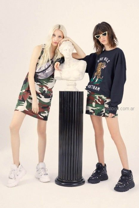 minifalda camuflada complot verano 2019