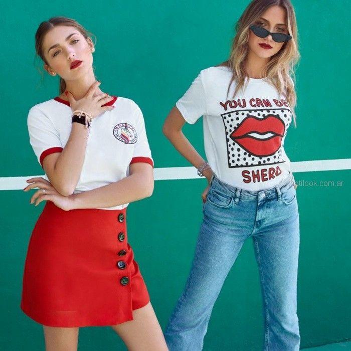minifaldas y remeras basicas juveniles jeans chupin juvenil mujer Scombro Jeans verano 2019