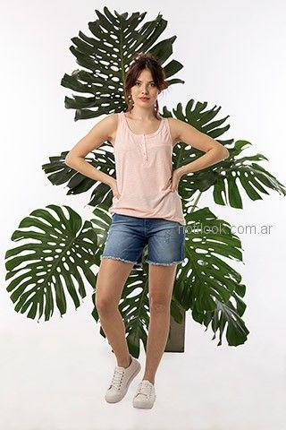 musculosa y short de jeans mujer juvenil okoche primavera verano 2019
